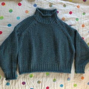 Chunky knit turtleneck sweater